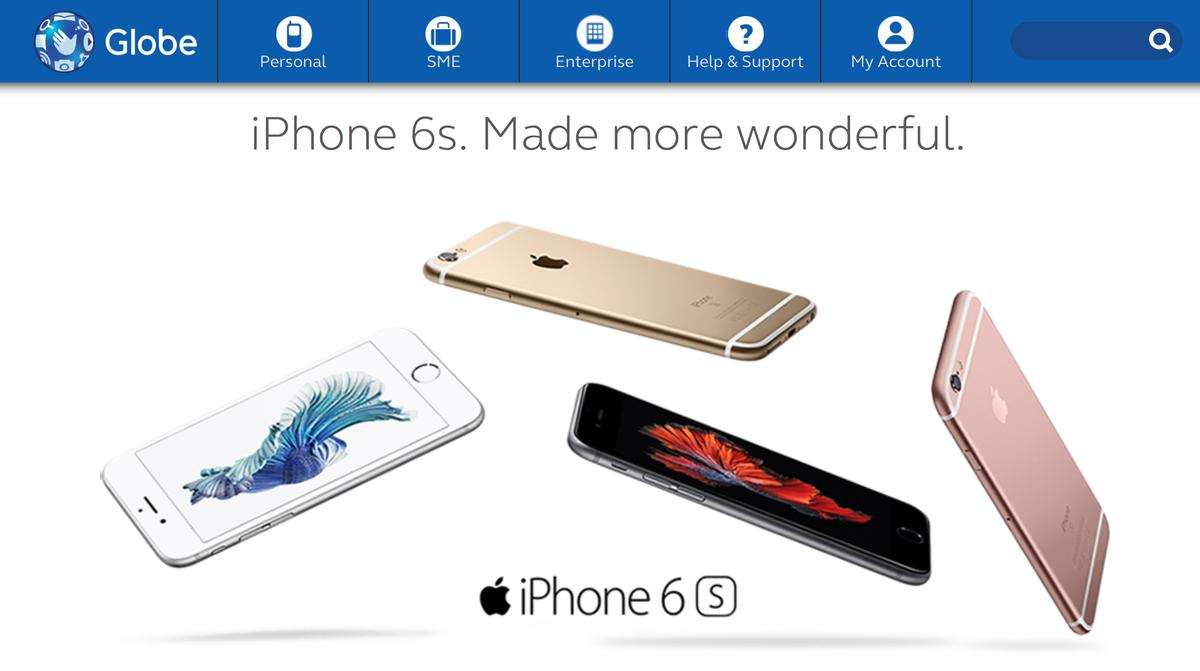 Globe business plan iphone 6s