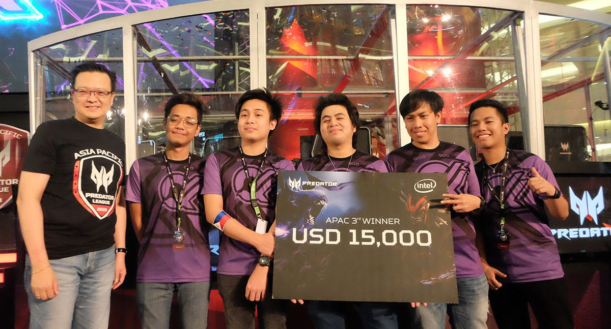 Philippine Team Quid Pro Quo bags third place in recently concluded Asia Pacific Predator League 2018