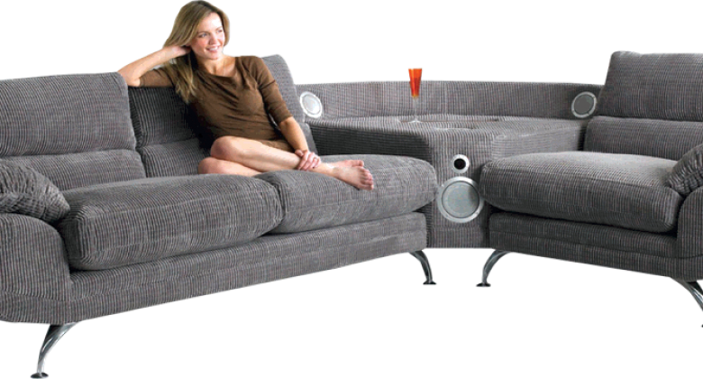 Become the ultimate couch potato with the sound sofa for The couch potato furniture